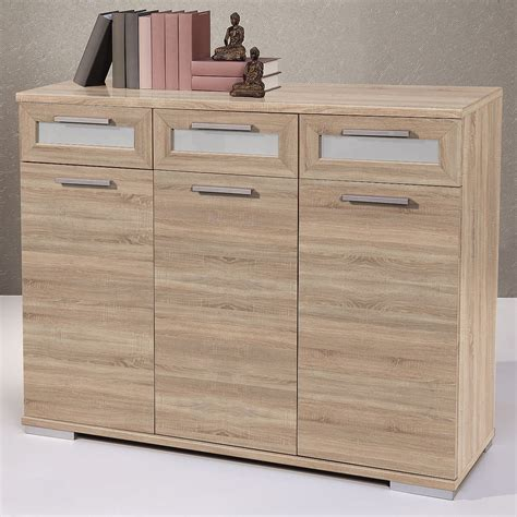 kommode highboard sideboard solido 3 highboard kommode sonoma eiche wei 223 ebay