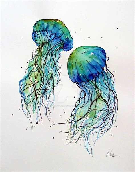 watercolor tattoos jellyfish watercolor jellyfish paintings