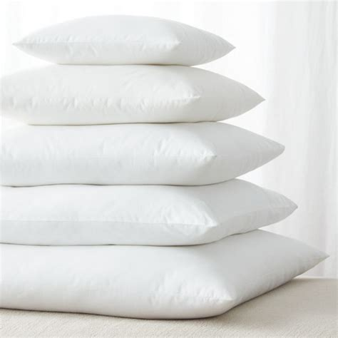 Down Alternative Square Pillow Inserts   Crate and Barrel