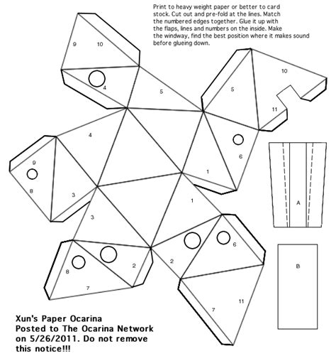 How To Make A Paper Ocarina - paper ina