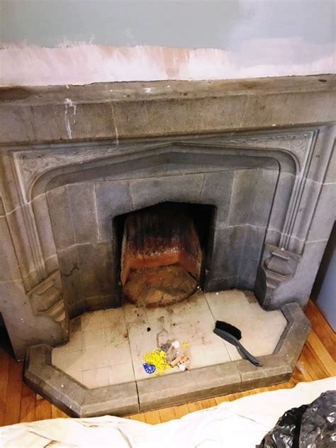 Restorative Cleaning of a Stone Fireplace in Brighton