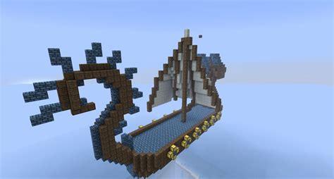 minecraft viking boat dragon viking boat minecraft project