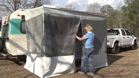 trim line awning trim line screen room for pop ups by dometic youtube