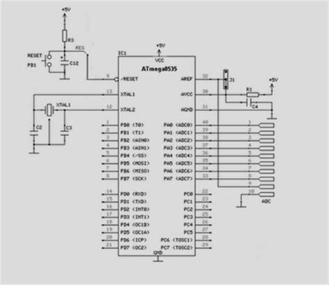elektronika 25 skema rangkaian elektronika sistem minimum mikrokontroler atmega8535 koleksi skema