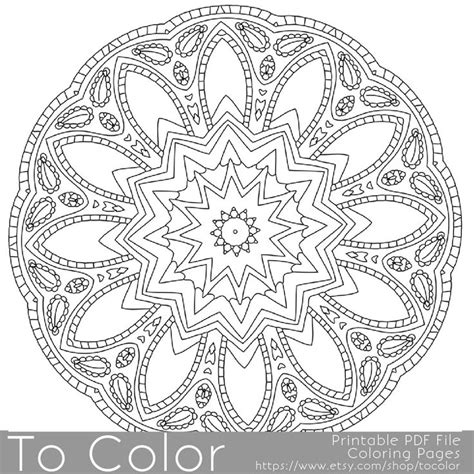 mandala coloring pages for adults pdf intricate printable coloring pages for adults gel pens