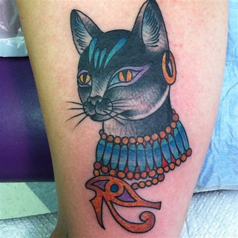 tattoo egypt cat egyptian tattoos traditional egyptian cat tattoo onthe