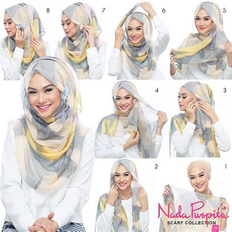 simple hijab pattern this is a most worn hijab look we notice the differences