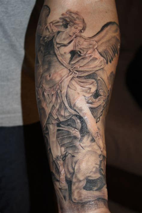 angel michael tattoo 24 archangel michael tattoos on forearm