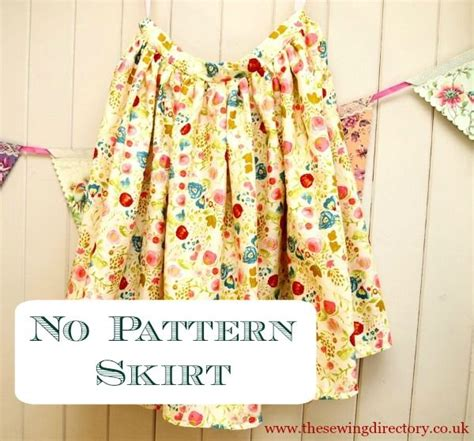 simple no pattern skirt 34 best summer dress and skirt sewing projects and pattern