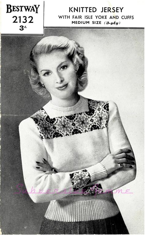 free vintage knitting patterns the vintage pattern files 1940s knitting bestway 2132 a