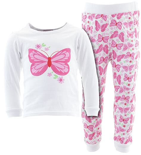 Pajamas Flower by White Butterfly Flower Cotton Pajamas For Infant Toddler