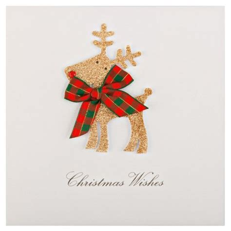 Free Tesco Gift Card - buy tesco luxury glittered reindeer christmas cards 6 pack from our greeting cards