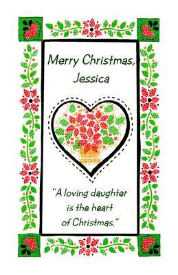 loving daughter greeting card christmas printable card american