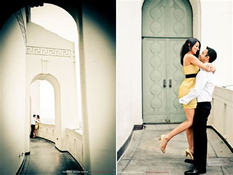 los angeles engagement session at griffith park observatory maharani weddings