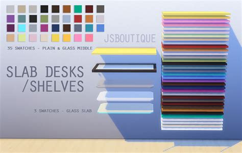 sims 4 cc desk shelf my sims 4 blog slab desks and shelves by jsboutique