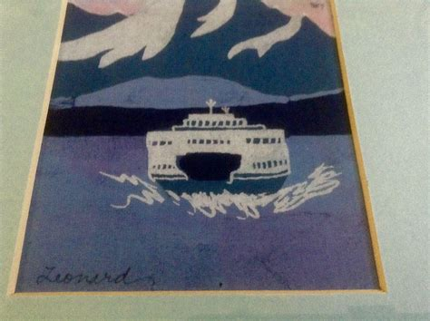 Leonard Batik ruth leonard batik on silk vehicle ferry crossing chanel