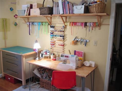 sewing room ideas ikea sewing space where to sew pinterest