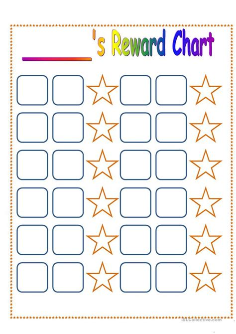 printable reward charts teachers reward chart worksheet free esl printable worksheets