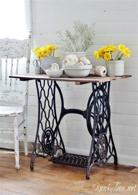 how much is a singer sewing machine table worth repurposed sewing machine tables do it yourself ideas