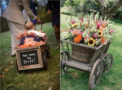 Pictures Of Wedding Wagons For Flower by 25 Wagon Wheelbarrow Country Wedding Ideas Deer Pearl