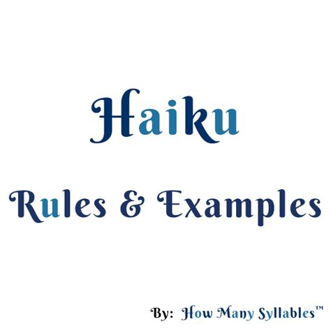 haiku rules related keywords haiku rules long tail