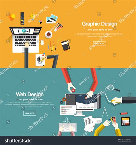 design a banner uk flat designed banners graphic design web stock vector