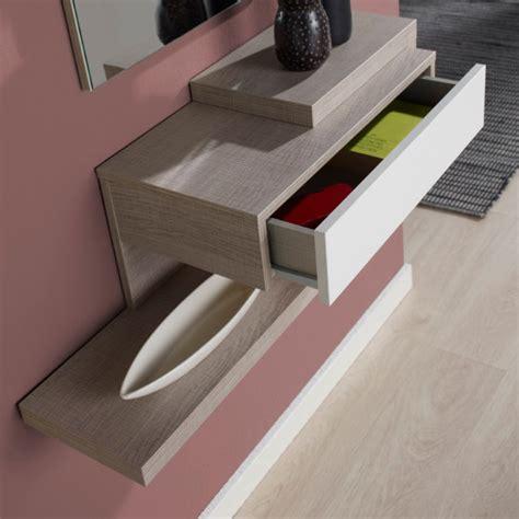 console avec tiroir meuble entree meuble d entr 233 e design miroir concept