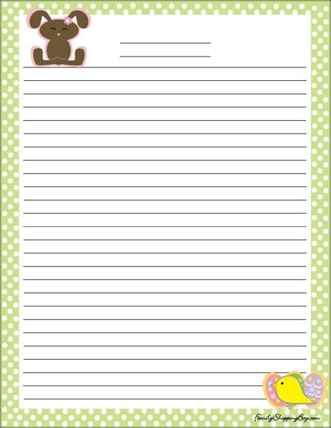printable lined easter stationery 17 best images about easter on pinterest spring easter