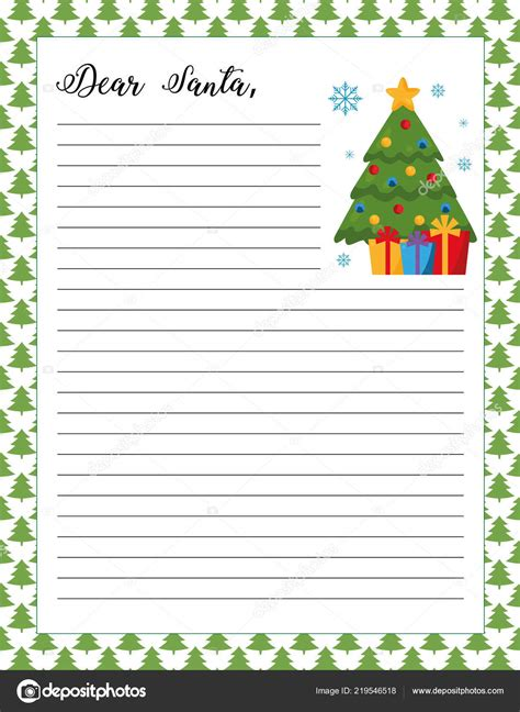 printable christmas letter border letter santa template