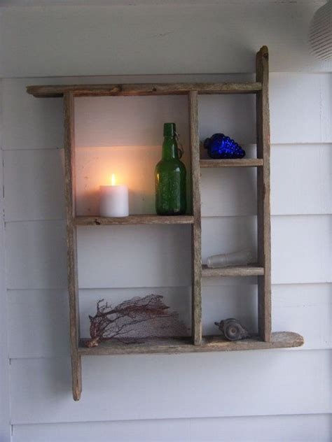 country wood shelf salvaged weathered primitive rustic