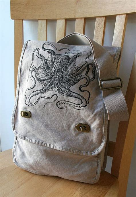 Octopus Bag S octopus canvas messenger bag laptop bag