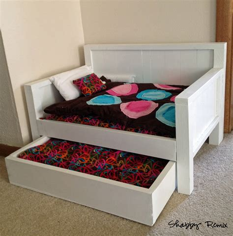 diy doll bed ana white american girl doll trundle day bed diy projects