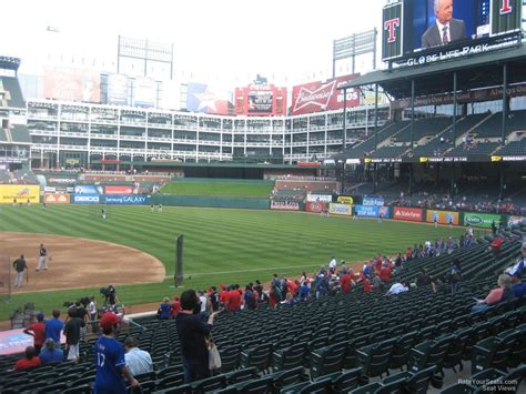 rangers sections globe life park section 33 rateyourseats com