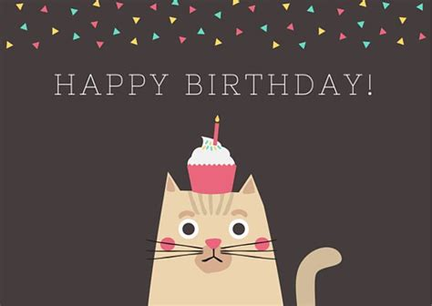 cat birthday card template greeting card templates canva