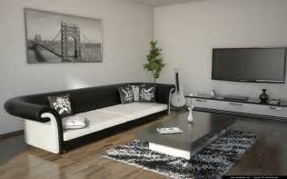 living room black and white living room black and white by andrej šenveter 3d artist