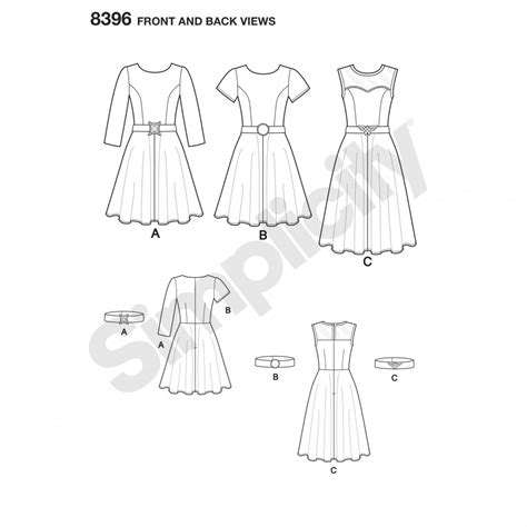 pattern sewing online simplicity sewing pattern 8396 aa skater dress sewing