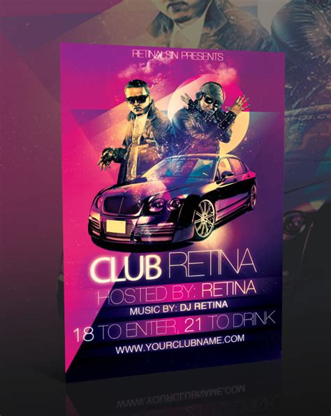 club flyer templates psd nightclub flyer template psd by retinathemes on deviantart