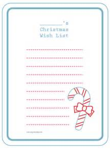 Printable Christmas Wish List Template Christmas Wish List Template Free Printable New Calendar