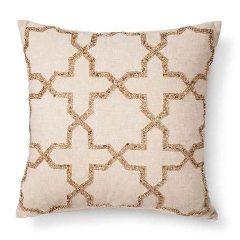 gold beaded pillow beaded gold toss pillow