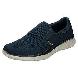 mens skechers memory foam slip on walking shoes