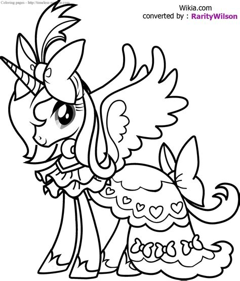 coloring page my little pony princess princess cadence coloring pages