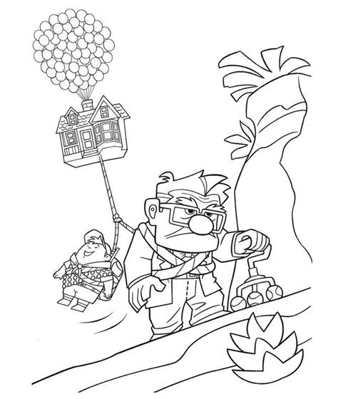Coloring Page Up House by Disney Pixar Coloring Pages Az Coloring Pages