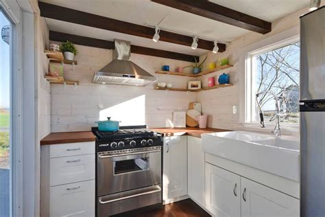 tiny home with a big kitchen custom mobile tiny house with large kitchen and two lofts