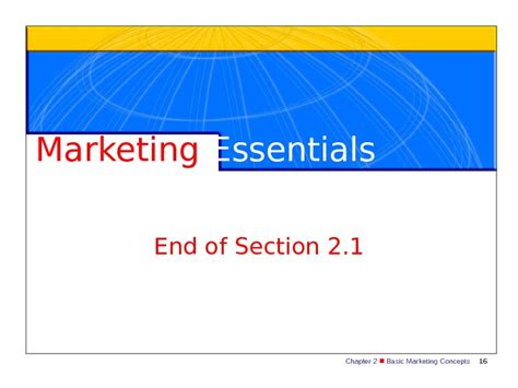 chapter 5 section 2 chapter 2 basic marketing concepts 1 marketing