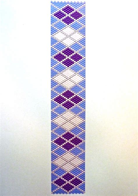 purple white argyle peyote stitch beading pattern fotofuze