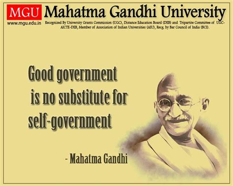 mahatma gandhi biography education quot good government is no substitute for self government