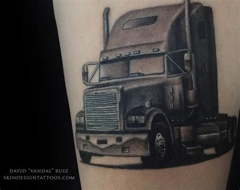 trucker tattoos big rig truck skin design