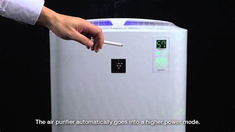 Review Air Purifier Sharp sensor demo using sharp air purifier
