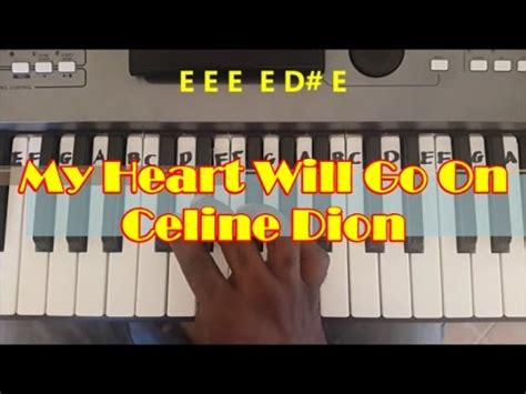 tutorial piano titanic easy my heart will go on easy piano keyboard tutorial titanic
