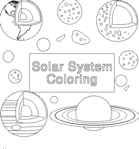 free coloring pages of space